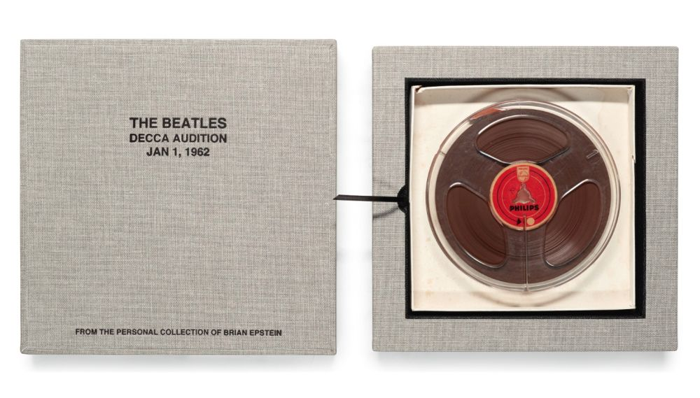 Brian Epstein's copy of the Decca Audition tape is estimated to fetch up to £80,000 at Sotheby's London. — AFP pic