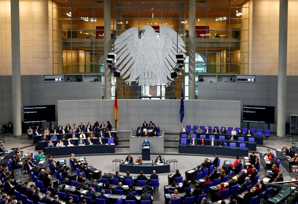 File picture shows German Chancellor Angela Merkel speaking during a session at the lower house of parliament Bundestag in Berlin, Germany November 21, 2018. — Reuters pic