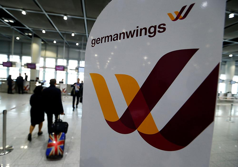 Germanwings became the latest corporate casualty of the crisis as German parent Lufthansa announced its closure as part of a broader overhaul. — Reuters pic