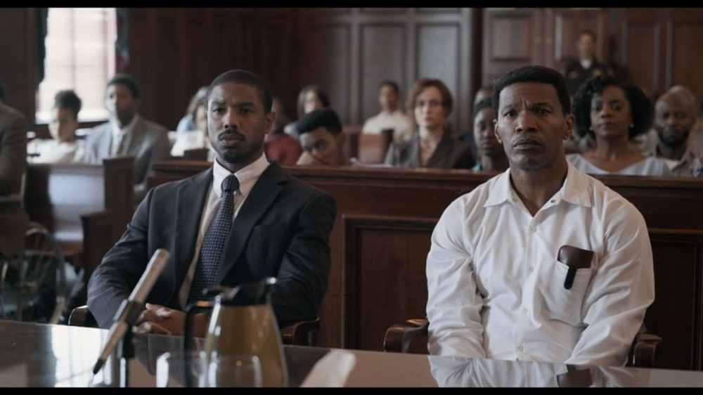 A screengrab from 'Just Mercy' that stars Michael B. Jordan, Jamie Foxx and Brie Larson among others.