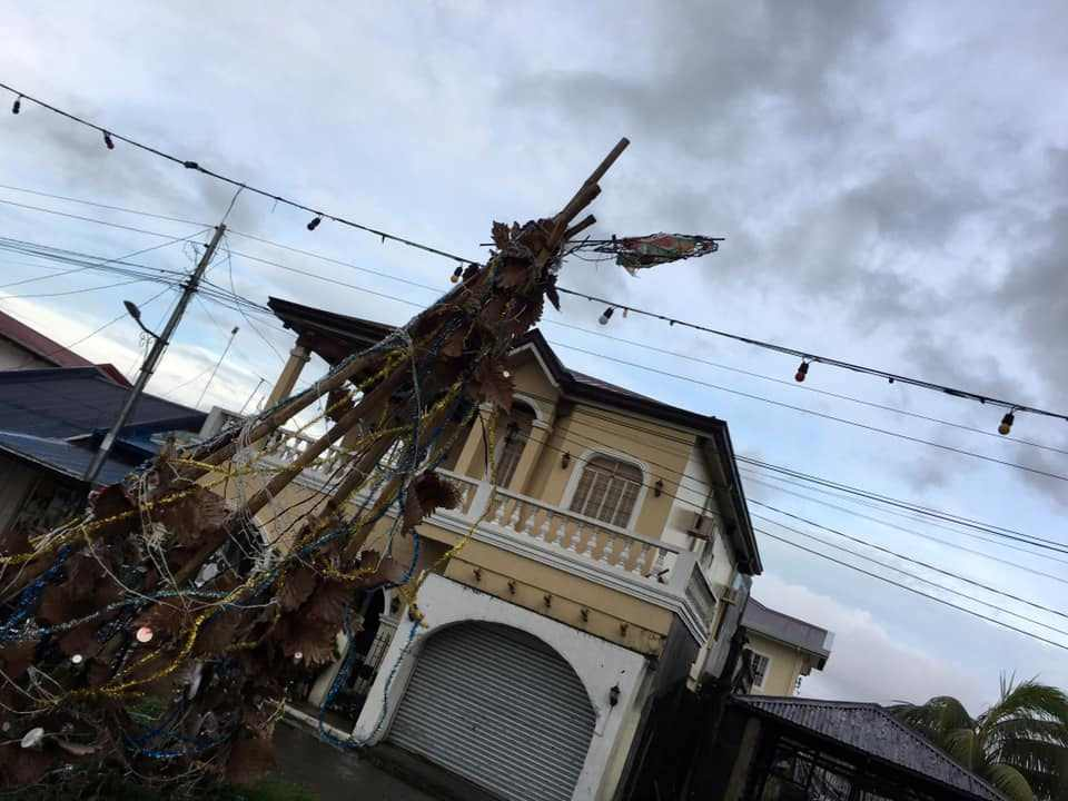 Destroyed Christmas decorations are seen after Typhoon Phanfone swept through Tanauan, Leyte, Philippines December 25, 2019. — Paul Cinco/social media pic via Reuters