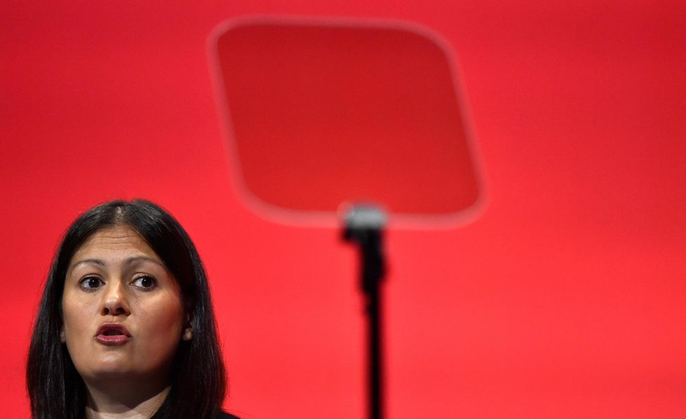 Lisa Nandy Britain's Shadow Secretary of State for the Energy speaks during the opposition Labour Party's annual conference in Brighton, southern Britain, September 29, 2015. — Reuters pic
