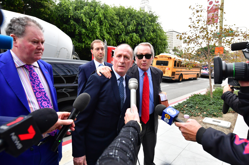 British cave diver Vern Unsworth arrives at US District Court in Los Angeles, California December 3, 2019. — AFP pic