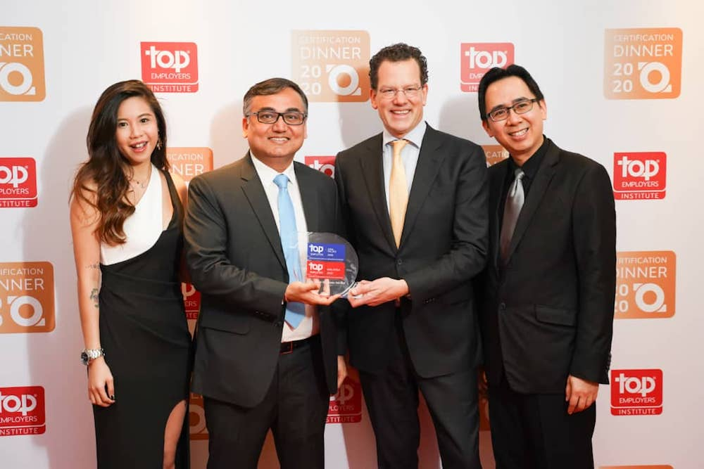 Evonne Tan, Talent Acquisition Specialist Philip Morris Malaysia; Chinmay Sharma, Director of People & Culture Philip Morris Malaysia; David Plink, CEO of Top Employers Institute; Edwin Chin, Talent Acquisition Manager Philip Morris Malaysia. — Picture courtesy of Philip Morris Malaysia