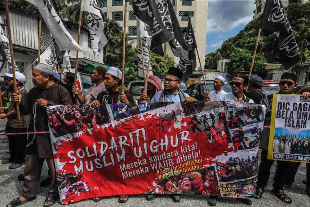 大马伊斯兰青年运动和伊斯兰解放党纷纷指责中国政府虐待新疆维吾尔穆斯林。-Firdaus Latif摄-
