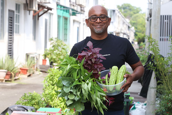 Urban Farmer founder Balan Nadarajan shows you how you can grow nourishing vegetables in your own backyard. — Pictures by Choo Choy May
