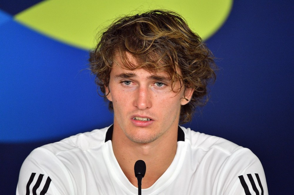 Alexander Zverev of Germany attends a press conference ahead of the ATP Cup tennis tournament in Brisbane January 2, 2020. — AFP pic