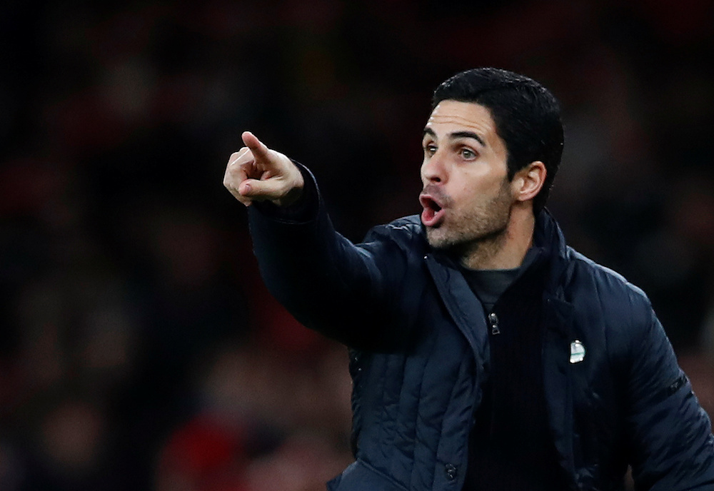 Arteta said security would dictate where the squad ends up going. — Reuters pic
