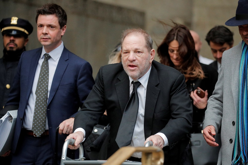 Film producer Harvey Weinstein departs his sexual assault trial at New York Criminal Court in the Manhattan borough of New York City, New York January 16, 2020. — Reuters pic