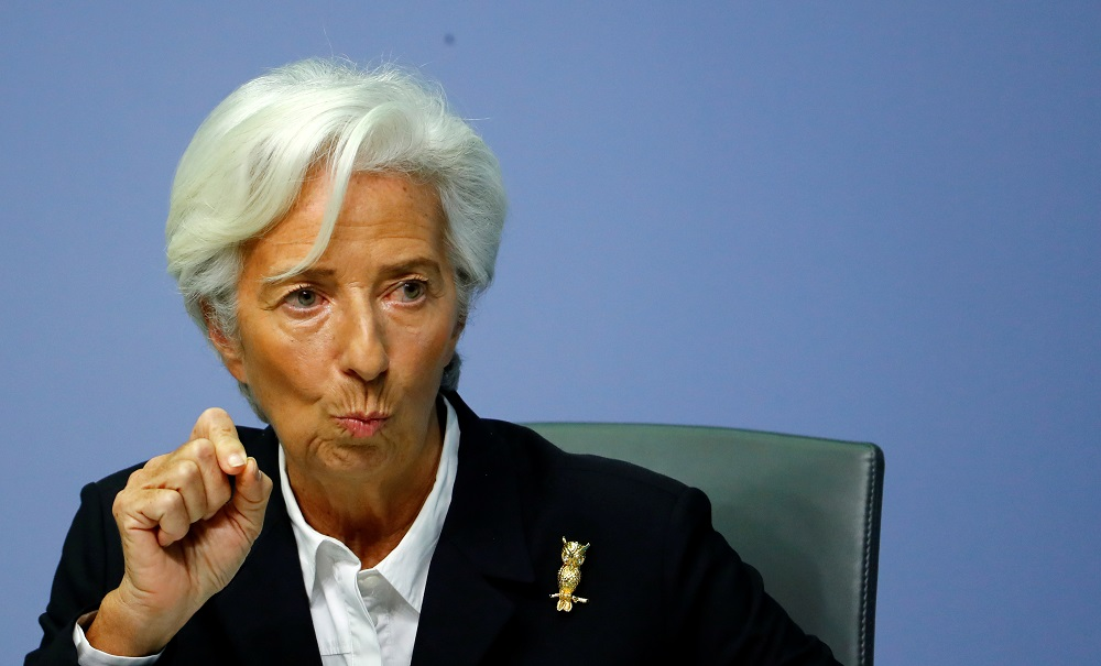 ECB president Lagarde said her greatest concern was that fiscal policies put in place during the pandemic, including furlough or short-time work schemes, be 'stopped suddenly'. — Reuters pic