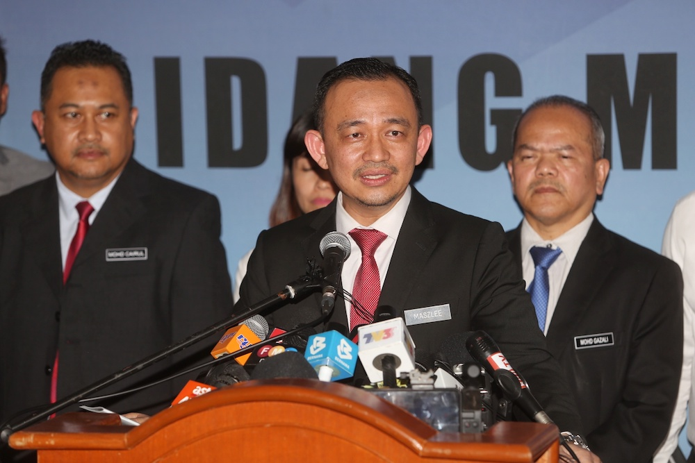 Maszlee Malik announces his resignation as education minister at a press conference in Putrajaya January 2, 2020. — Picture by Choo Choy May
