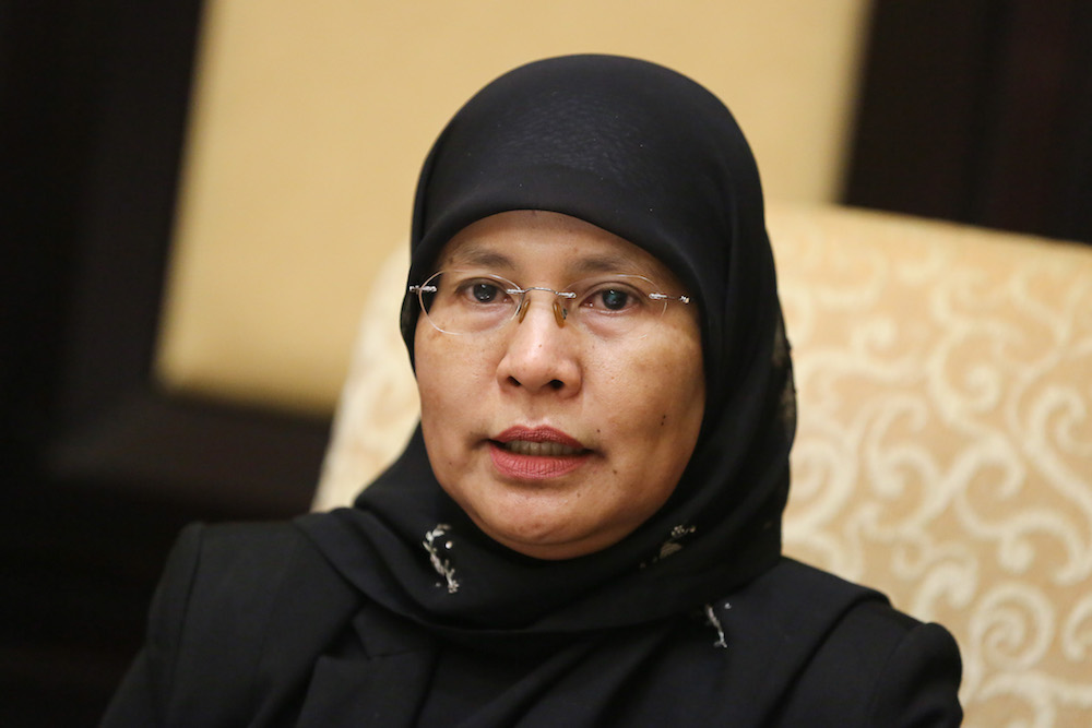 Chief Justice Tan Sri Tengku Maimun Tuan Mat expressed today her confidence in the judiciary's ability to adapt during the pandemic, and its preparedness to hold online hearings even as the movement control order remains in place. — Picture by Yusof Mat Isa