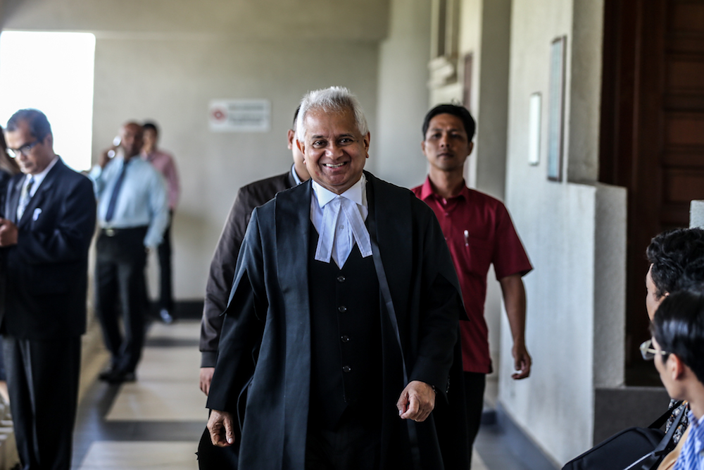 Attorney General Tan Sri Tommy Thomas is pictured at the Kuala Lumpur High Court January 8, 2020. — Picture by Firdaus Latif