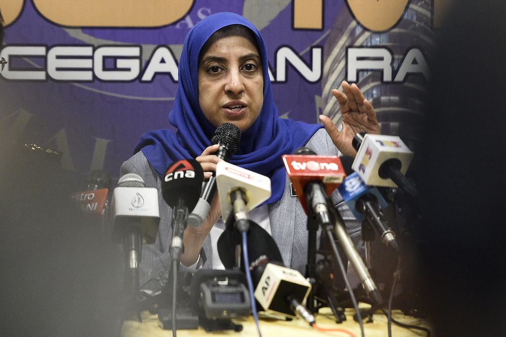 MACC chief commissioner Latheefa Koya today gave assurance to give full cooperation to the police in their probe into the alleged criminal plot against her and the MACC. — Picture by Miera Zulyana