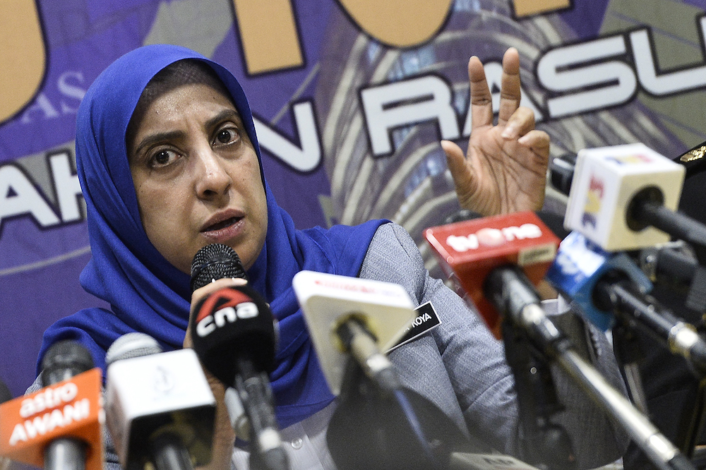 Latheefa Koya said part of the recordings of alleged leakage of information from the AGC to former prime minister Datuk Seri Najib Razak and other conversations have been handed over to the police, while the rest would follow suit. — Picture by Miera Zulyana