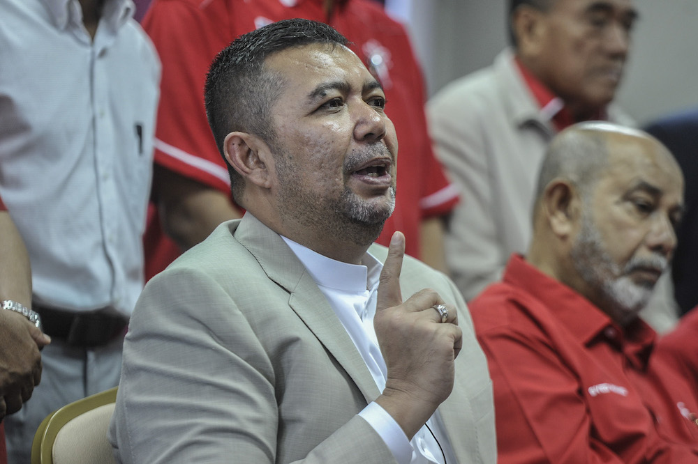 Parti Pribumi Bersatu Malaysia secretary-general Datuk Marzuki Yahya today sacked party leader Muhammad Suhaimi Yahya of his post for allegedly breaching party rules by sending out membership termination letters. — Picture by Shafwan Zaidon