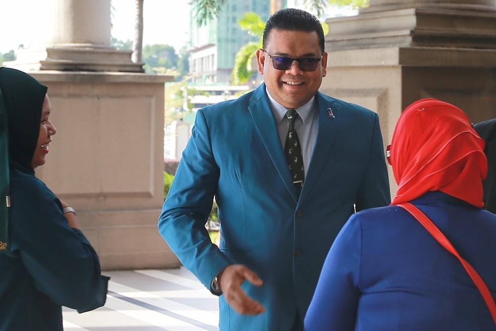 Datuk Lokman Noor Adam is pictured at the Kuala Lumpur High Court January 9, 2020. — Picture by Ahmad Zamzahuri