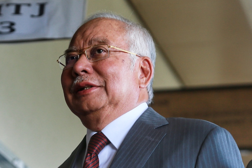 Datuk Seri Najib Razak said that he himself ensures that all his postings on his social media platforms are factual so that it can be used as a reference. — Picture by Ahmad Zamzahuri
