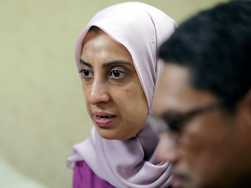 Malaysian Anti-Corruption Commission chief Latheefa Koya speaks at the State Secretariat Building in Ipoh January 9, 2020. — Picture by Farhan Najib