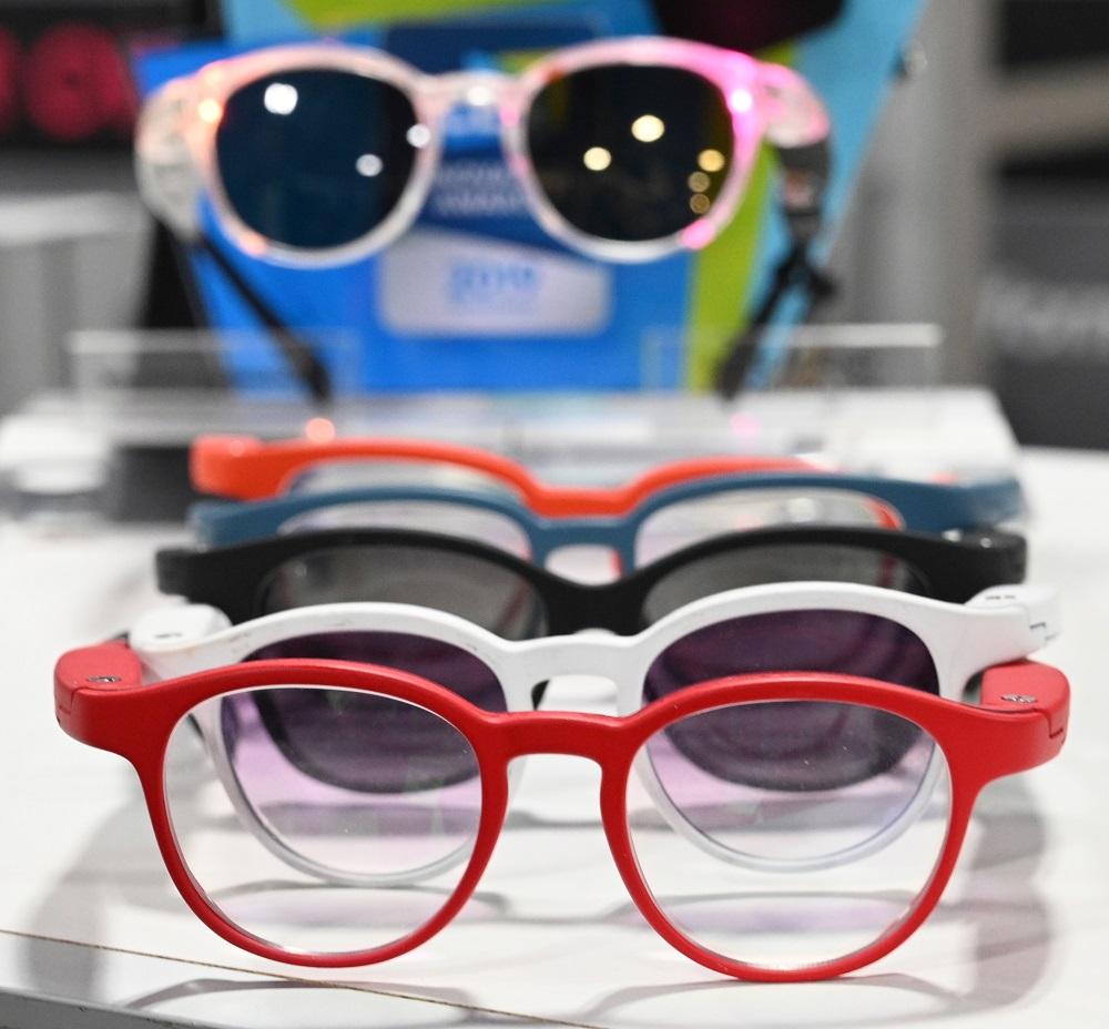 Serenity smart eyeglasses from France-based startup Ellcie Healthy. — AFP pic