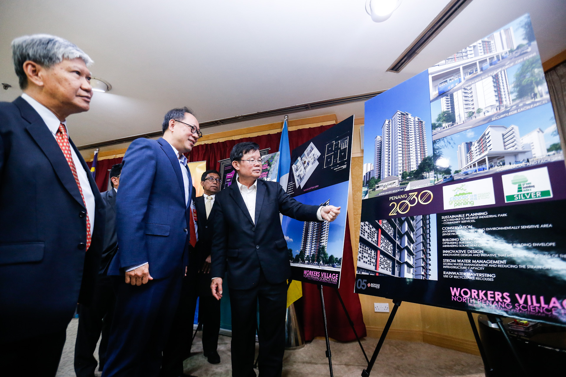 Penang Chief Minister Chow Kon Yeow during the agreement exchange between Penang Development Corporation and Biopolis Resources Sdn Bhd at Komtar January 20, 2020. — Picture by Sayuti Zainudin
