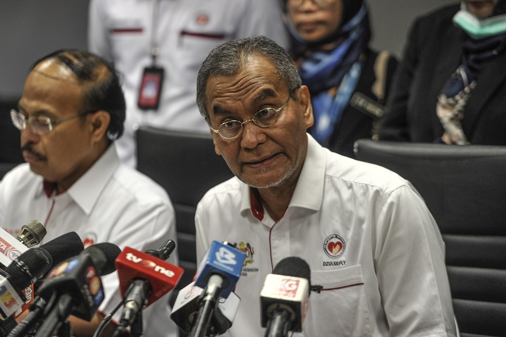 Dzulkefly said the country's preparedness including facilities and relief teams was at its best even before the World Health Organisation held its meeting on the virus outbreak in Wuhan, China. — Picture by Shafwan Zaidon