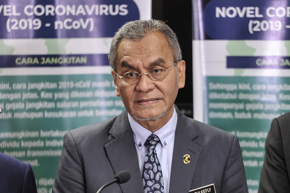 Health Minister Datuk Seri Dzulkefly Ahmad was quoted as saying that the spread of the Covid-19 virus infection remained under control and that the country was in the early containment phase. — Picture by Shafwan Zaidon