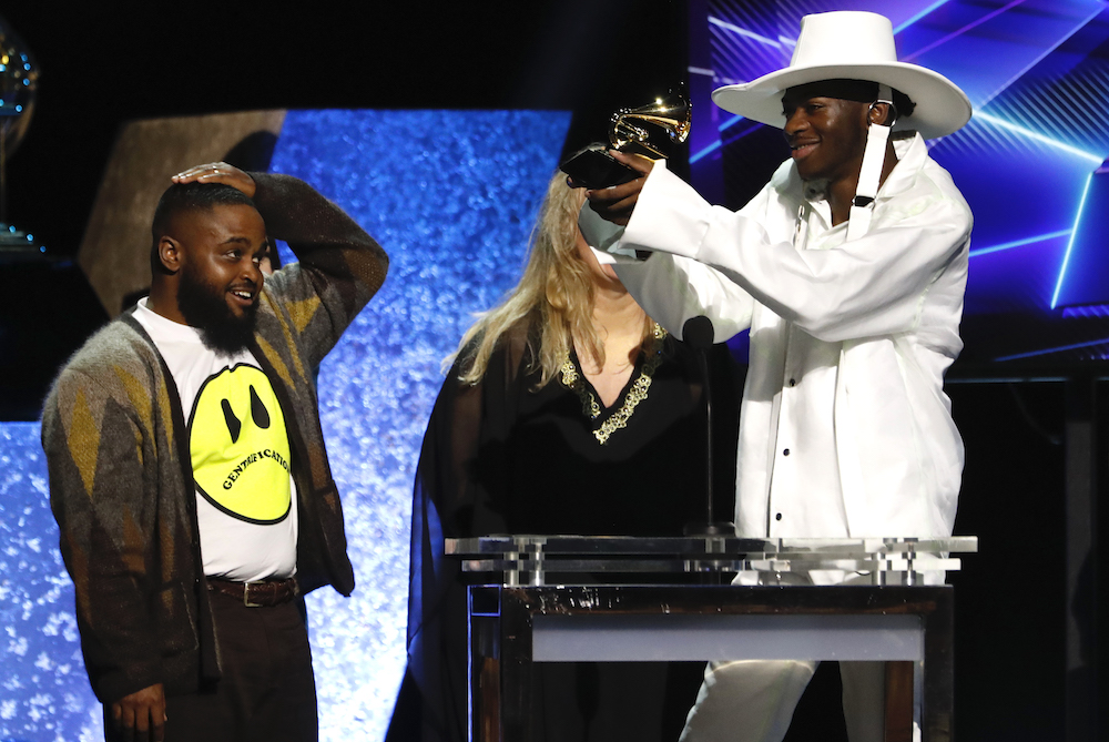 Lil' Nas X accepts the award for Best Music Video for 'Old Town Road (Official Movie), Los Angeles January 26, 2020. — Reuters pic
