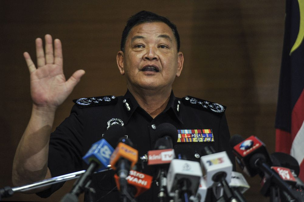 Inspector-General of Police Tan Sri Abdul Hamid Bador said he was unaware that the police had called up the participants of Parlimen Digital, amid accusations of intimidation against the mock Parliament event that took place over the weekend. — Picture by Shafwan Zaidon