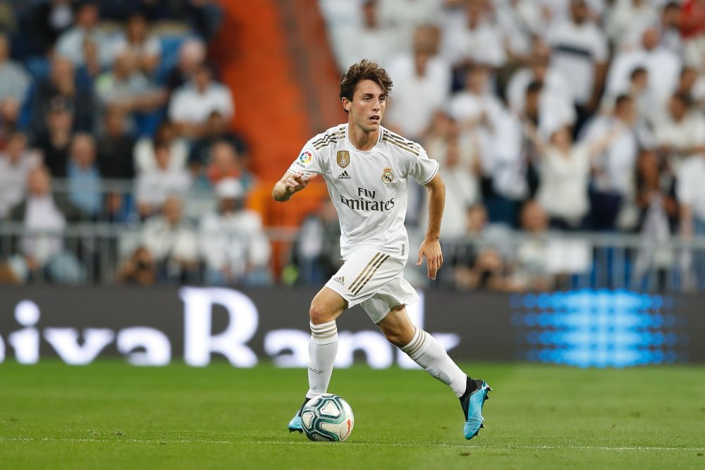 Real Madrid's Alvaro Odriozola in action against Osasuna at the Santiago Bernabeu in Madrid September 25, 2019. — Reuters pic