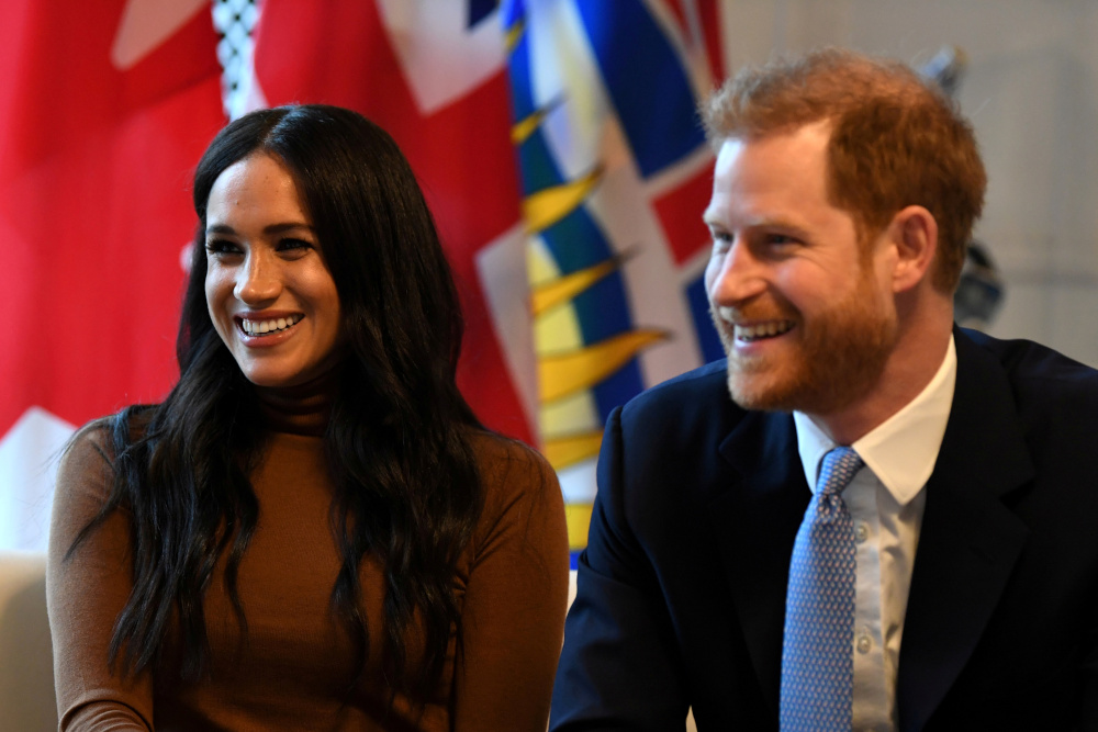 Britain's Prince Harry and his wife Meghan, Duchess of Sussex visit Canada House in London, Britain January 7, 2020. — Reuters pic
