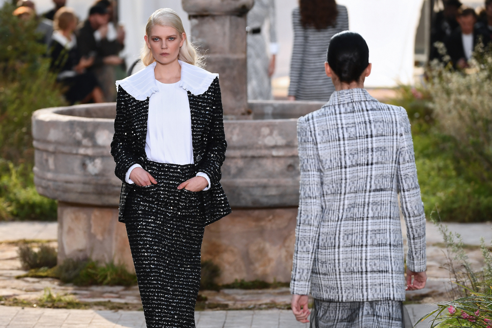 The models had an Edwardian schoolgirl elegance about them. The Grand Palais was turned into the garden of the Cistercian abbey in Aubazine, central France, where Gabrielle 'Coco' Chanel grew up. — AFP pic