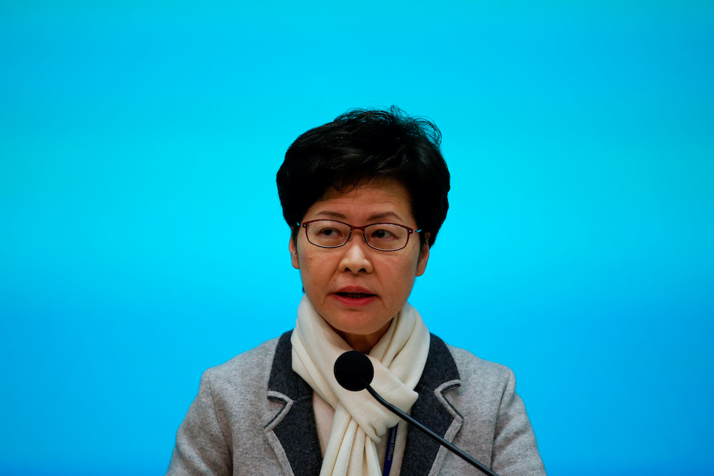 Carrie Lam is  Hong Kong's least popular chief executive in the near quarter century since the handover from British colonial rule. — Reuters pic