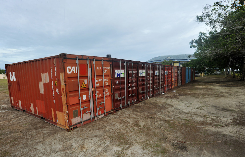 File picture of containers at the Labuan Customs Department at Labuan Liberty Wharf January 2, 2020. — Bernama pic
