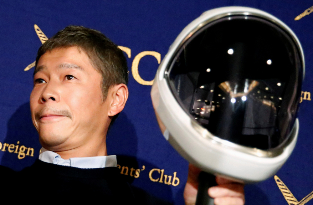 Japanese billionaire Yusaku Maezawa is due to take a trip around the Moon, presumably in 2023, aboard a Starship rocket that is still under development by SpaceX. The mission is called dearMoon. — Reuters pic