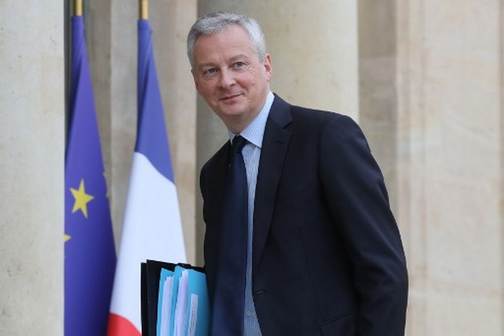 French Economy and Finance Minister Bruno Le Maire arrives for a weekly cabinet meeting followed by a government seminar at the Elysee Presidential palace on January 15, 2020 in Paris. — AFP pic