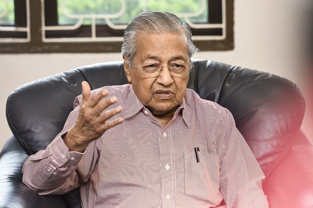 Dr Mahathir said Malaysians must lower their standard of living in order to enjoy life with reduced pay. — Picture by Miera Zulyana