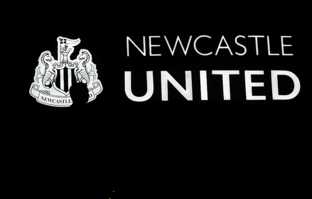 General view of the Newcastle United emblem before the match against Rochdale in St James Park, Newcastle, January 14, 2020. — Reuters pic