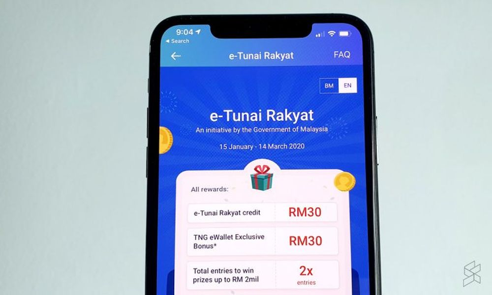 It looks like you would be getting RM30 + RM30 for a total of RM60 if you claim your eTunai Rakyat from the eWallet app. — soyacincau pic