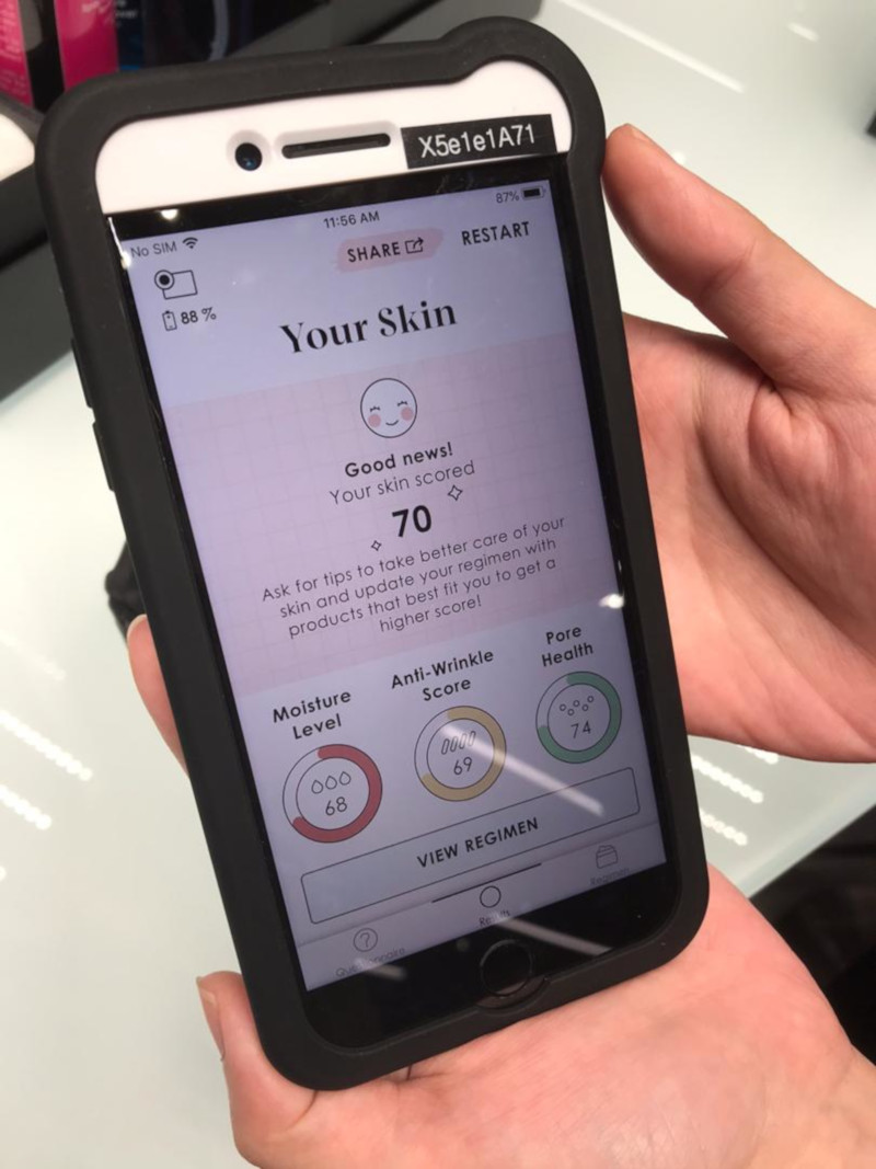 Sephora's beauty advisers will share the best tips to get healthy, glowing skin based on the customer's score. — Picture by Tan Mei Zi