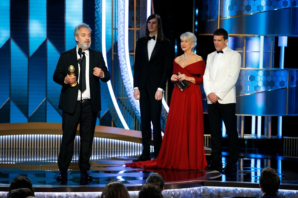 Sam Mendes accepts the award for Best Director for '1917' at the 77th Golden Globe Awards in Beverly Hills, California January 5, 2020. — Paul Drinkwater/NBC Universal/Handout via Reuters