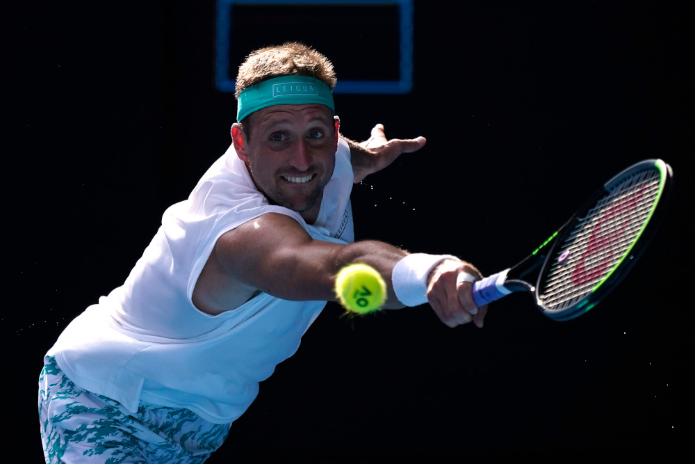 Tennys Sandgren of the US in action during his match against Switzerland's Roger Federer during the quarter finals of the Australian Open at Melbourne Park January 28, 2020. — Reuters pic