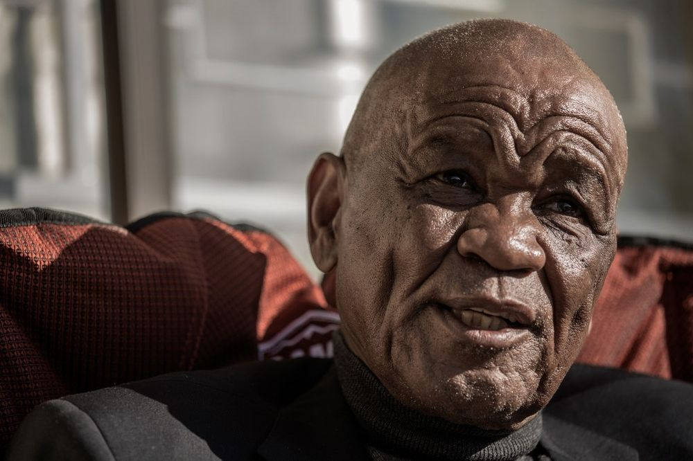 In this file photo taken on May 31, 2017 Lesotho political party All Basotho Convention (ABC) leader, former Prime Minister and General Elections candidate Tom Thabane gives an interview to Agence France-Presse at his residence in Maseru. — AFP pic