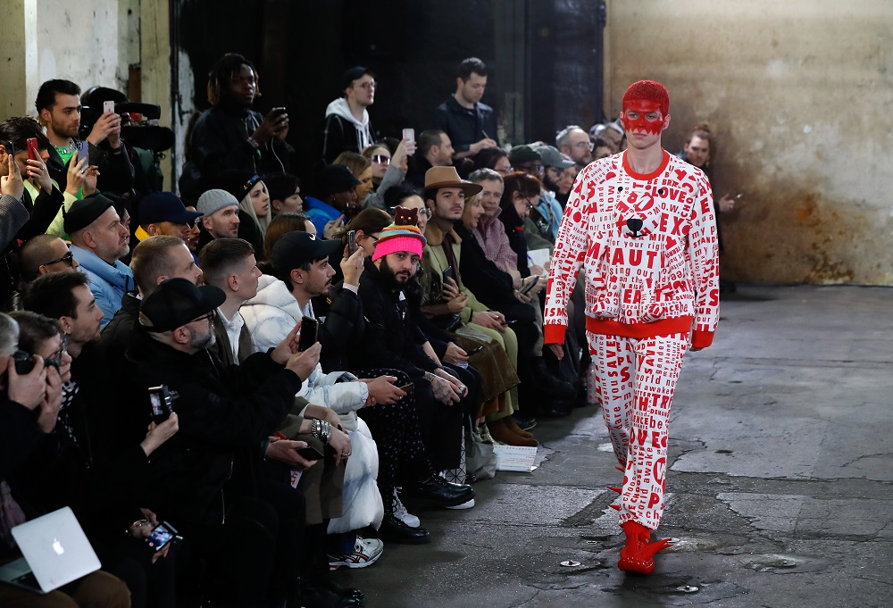 A model presents a creation by Walter Van Beirendonck during the men fall-winter 2020-2021 fashion shows in Paris January 15, 2020. ― AFP pic