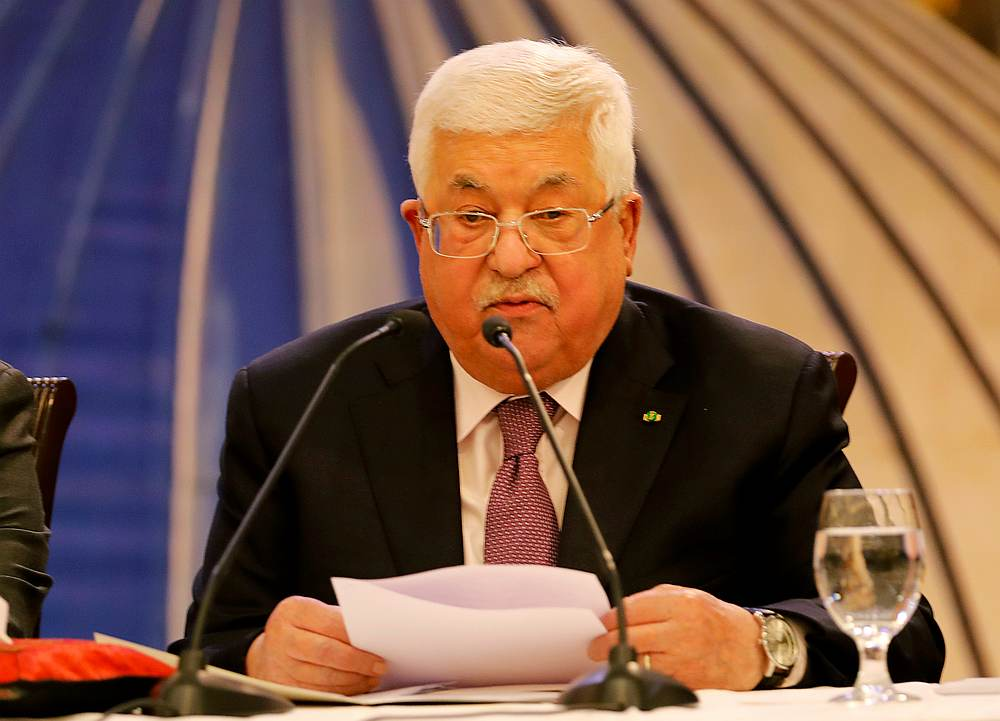 Palestinian President Mahmoud Abbas blamed Israel for uncertainty about whether it would allow the legislative elections to proceed in Jerusalem as well as in the occupied West Bank and Gaza. — Reuters pic