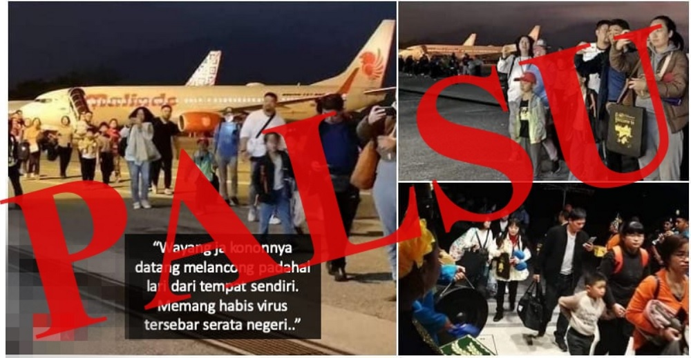 A travel agency here has denied an allegation that hundreds of Chinese nationals had arrived on the island to escape the 2019-nCoV as seen in a picture which has now gone viral on social media. — Picture via Twitter/Bernama