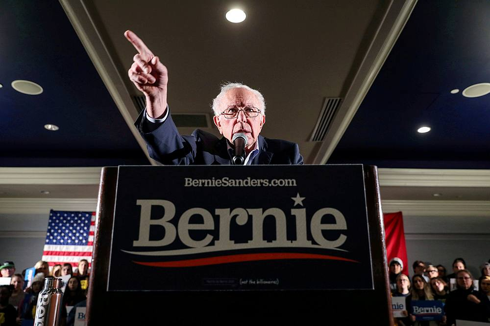 The Sanders campaign strongly denied a press report he was suspending his campaign and had halted Facebook advertising, but did say it was 'assessing' the future.— Reuters pic