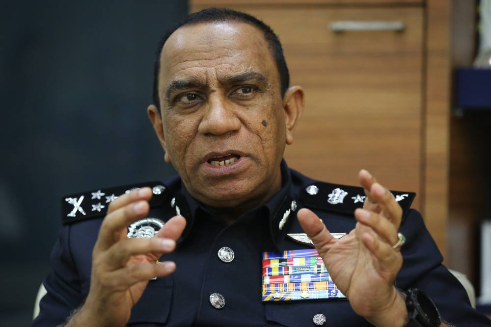 Bukit Aman Narcotics CID director Datuk Mohd Khalil Kader Mohd speaks to Malay Mail during an interview at his office in Kuala Lumpur January 11, 2020. ― Picture by Yusof Mat Isa