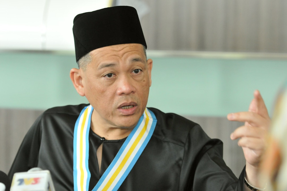 FAM president Datuk Hamidin Mohd Amin is seen in this file picture. — Picture courtesy of Royal Press Office