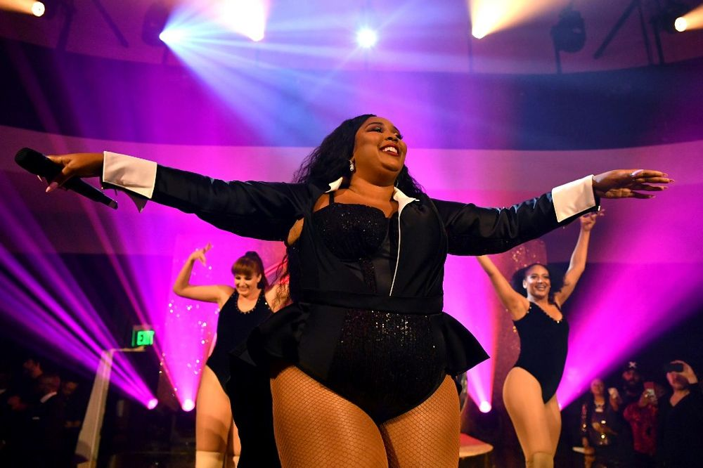 Lizzo performs onstage during the Warner Music Group Pre-Grammy Party at Hollywood Athletic Club on January 23, 2020 in Hollywood, California. — Amy Sussman/Getty Images for Warner Music/AFP pic